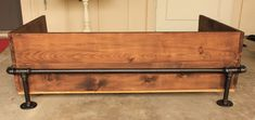 Making a rustic industrial dog bed Industrial Dog Beds, Industrial Pipe, Iron Pipe, Bed Styling, Entryway Tables, Pillows, Storage, Wood, Bed Ideas