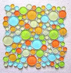 [Mius Art Mosaic] Glossy white ,blue and orange color mix crystal glass mosaic tile for kitchen backsplash MC011-in Mosaics from Home Improvement on Aliexpress.com