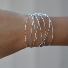 Silver Wire Cuff Bracelet This gorgeous piece is perfect to wear casually during the day or dressed up at night. It is bendable so you can bend it and it is adjustable to your wrist.  Metal is a lead and nickel free metal with silver plating. bundles 2+ items get 10% off ❤️Follow me on IG: @tanyakara_ Follow me on Snapchat: @tanyakara  Tweet me @tanyakara Tanya Kara Jewelry Bracelets