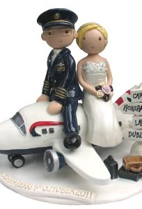 Airplane Cake Topper (This site has AWESOME custom cake toppers)