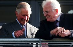 After his visit to Mullaghmore, the Prince of Wales attended the Sligo Races. He is pictured with chairman of the race Kieran O'Connor