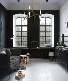 Fabulous and minimalist apartment with dark color... | Visit : roohome.com  #apartment #apartmentdesign #apartmentdecor #design #decoration #interior #elegant #amazing #awesome #gorgeous #fabulous