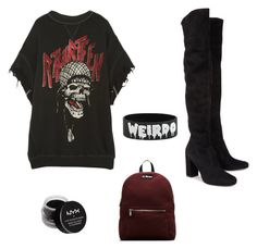 """""""Untitled #14"""" by slytherin-gabrielle on Polyvore featuring R13, Yves Saint Laurent, Dr. Martens and NYX"""