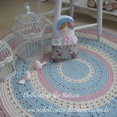 Tapete redondo em crochê - Dellicatess for Babies - 6A39E
