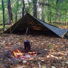 Aqua Quest Defender Tarp - Waterproof Heavy Duty Nylon Bushcraft Survival Shelter - Camo or Olive Drab Backpacking Tarp, Camping Tarp, Bushcraft Camping, Camping Guide, Camping Hacks, Outdoor Camping, Hiking, Camping Ideas, Bushcraft Kit