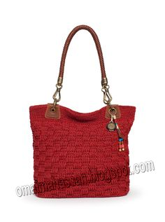 Handmade crochet bag in many colors - the favorite modern style knit bag. At first glance the fabric looks complicated, but it's reall...