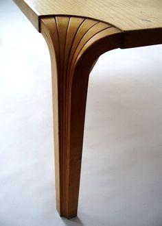 table mx800 detail, alvar aalto