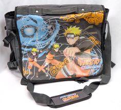 Shonen Jump NARUTO SHIPPUDEN Messenger Bag Tote Laptop Case Bookbag 2002 Anime