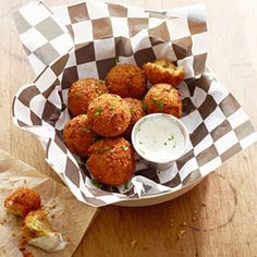 Fried Mormon Funeral Potatoes Don't let the name fool ya. Bacon, Cream Cheese Jalapenos, cheddar, Sour cream Yummy good