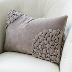 Buttons Accent Pillow