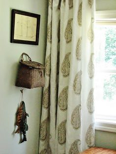 I plan to block print curtains similar to this in our India apartment