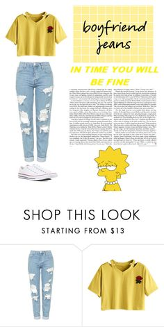"""""""Untitled #55"""" by honeyjordy ❤ liked on Polyvore featuring Topshop and Converse"""