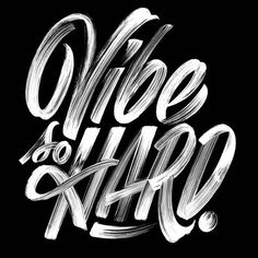 Organic lettering. Black and white. I can see this on dryfit. It'd be a sweet mix between vintage, hand lettering and work out gear