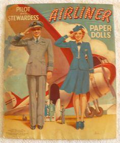 1941 Merrill Merlin Pilot and Stewardess