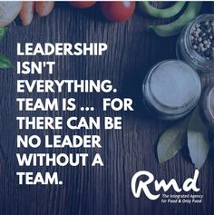 """Leadership isn't everything. Team is ... for there can be no leader without a team. 💪🙌 #Powerfully true. ...#rmdadvertising #foodmarketingagency #agencylife #clientlove #foodlove #creative #smart #sharp #problemsolving #passionate #branding #marketingtips #marketingstrategy #advertising #strategy Problem Solving, A Team, Leadership, Career, Advertising, Branding, Thoughts, Business, Creative"