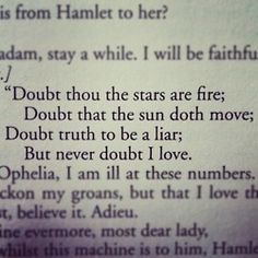 Hamlet    Hamlet is basically The Lion King but with more beautiful words and less Pumba. (;