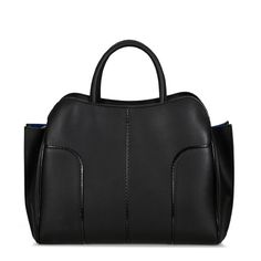Tod's Sella bag medium in elegant smooth leather with twin handles, zip closure, patent leather trims, removable strap and internal pockets.
