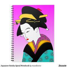 Japanese Geisha Spiral Notebook