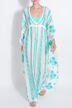 Embroidered Long Kaftan