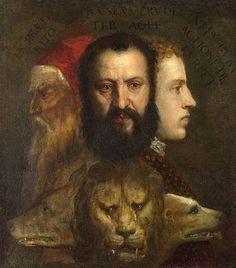 Titien (1490-1576) - Allégorie du temps gouverné  par la prudence