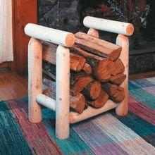 Cedar Log Firewood Rack