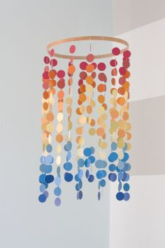 Colorful dot mobile - #projectnursery