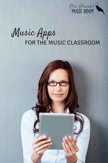 Music apps for the music classroom: Three apps that are great for the music room, as well as a link to a list of apps!