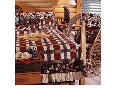Winter Quilting Project-Simply sewn strip-piecing brings this wintry bed-size quilt together quickly.