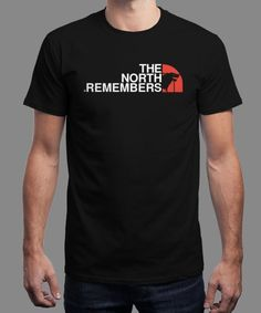 """The North Remembers"" is today's £8/€10/$12 tee for 24 hours only on www.Qwertee.com Pin this for a chance to win a FREE TEE this weekend. Follow us on pinterest.com/qwertee for a second! Thanks:)"