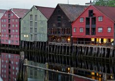 The historic Trondheim waterfront, #Norway