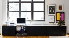 The nicest standing desk ikea hack I've ever seen. It's also the most complicated to put together, but would be worth it // A Stand-up Desk (Ikea hack) Ikea Storage Furniture, Ikea Storage Cabinets, Desk Storage, Design Furniture, Home Office Furniture, Design Desk, Pipe Furniture, Furniture Decor, Desk Hacks