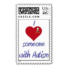 I love someone w Autism Postage Stamps
