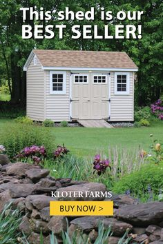 This vinyl Special Cape is one of our best sellers. Quality construction throughout - you customize just the way you want it! #kloterfarms #shed