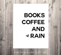 books coffee & rain