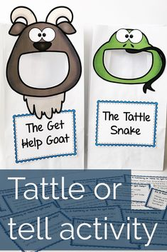 Tattling or telling? This when to tell storybook and activity will help students understand the difference! Read along with a story to learn with Tattle Snake as he figures out that he's been tattling all along! Students complete a card sort using 32 scenario cards to increase understanding. This activity is great for individual counseling, small group counseling, or classroom guidance lessons. #schoolcounseling #counselorkeri