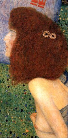 Girl With Blue Veil by Gustav Klimt (detail)