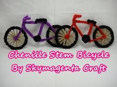 Chenille Stem Craft - Bicycle - YouTube