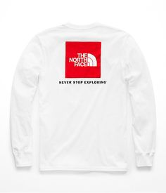 a4caa3a2 Men's long-sleeve red box tee