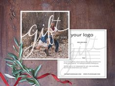 Gift Certificate Photography Gift Certificate by SavantDesign More