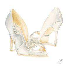 Illustrated Wedding Day Shoe Present Fashion Images, Fashion Art, Fashion Shoes, Fashion Design Drawings, Fashion Sketches, Fashion Illustrations, Wedding Shoes, Wedding Day, Shoe Sketches