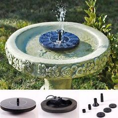 Solar Powered Easy Bird Fountain Kit - Great Addition to Your Garden! - Next…