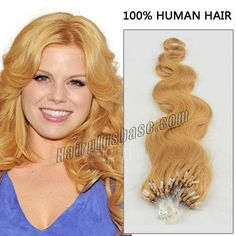 22 Inch #27 Strawberry Blonde Body Wave Superb Micro Loop Hair Extensions 100 Strands