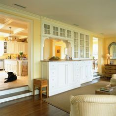 Step Down To Family Room Design Ideas, Pictures, Remodel, and Decor - page 2