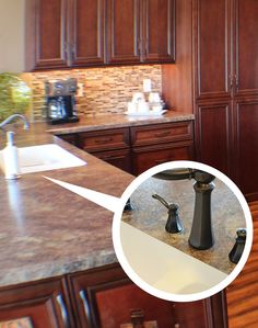 An under-mount #sink in a @formicagroup #laminate countertop? Yes you can! | VillageHomeStores.com & 87 best Countertop Materials For Your Kitchen images on Pinterest in ...