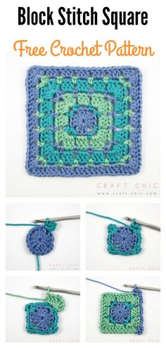Block Stitch Square Free Crochet Pattern