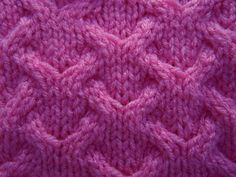 cable with lace detail knitting pattern