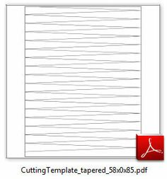 """Image of 5/8"""" x 8½"""" Bicone Cutting Template"""