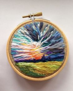 This Embroidery Artist Uses Thread Instead Of Paint To Create Landscape Scenes, And The Result Is Amazing
