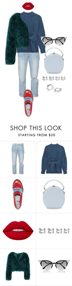 """""""Senza titolo #2258"""" by monsteryay ❤ liked on Polyvore featuring Levi's, 3.1 Phillip Lim, MR by Man Repeller, Lime Crime, Maison Margiela, Fendi and Maria Francesca Pepe"""