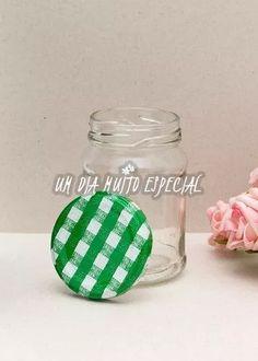 10 und potes vidro tampa xadrez verde 220ml doce geleia bolo